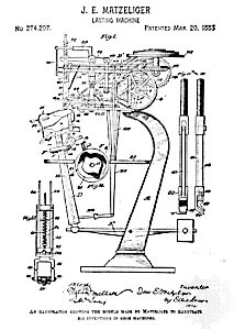 Jan E Matziliger Shoe Lasting Machine