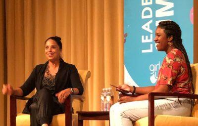 Soledad O'Brien with Toni Bamisaye